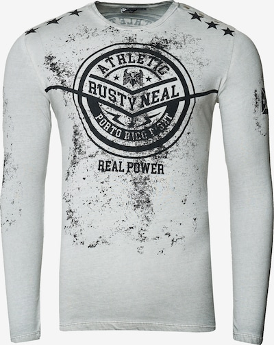 Rusty Neal Cooles Longsleeve mit großem Front Print in grau: Frontalansicht