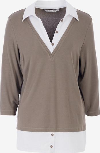 HELMIDGE Bluse in beige / weiß, Produktansicht
