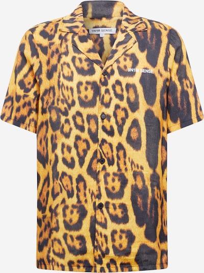 9N1M SENSE Košile 'Special Pieces' - světle hnědá / zlatě žlutá / černá, Produkt