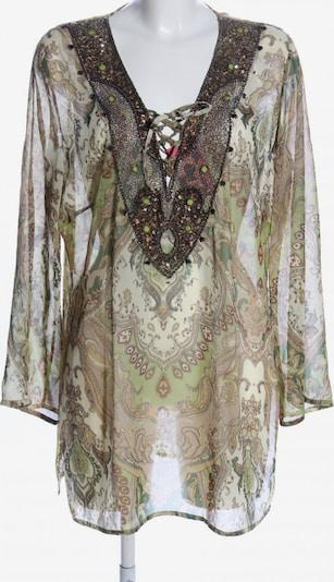 B&C Transparenz-Bluse in XXL in braun / grün / wollweiß, Produktansicht