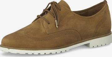 TAMARIS Lace-up shoe in Brown