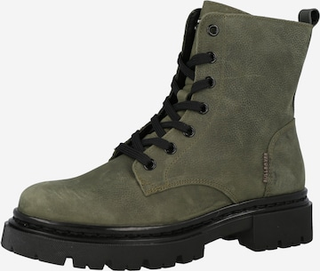 BULLBOXER Lace-Up Ankle Boots in Green