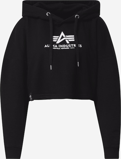 ALPHA INDUSTRIES Sportisks džemperis melns / balts, Preces skats