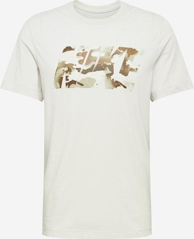 NIKE Funkční tričko - béžová / hnědá / bílá: Pohled zepředu