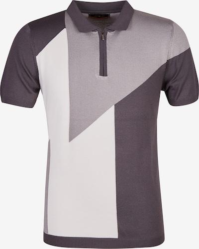 Leif Nelson Shirt in grau / weiß, Produktansicht
