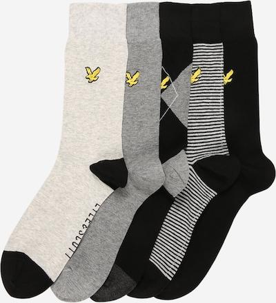 Lyle & Scott Ponožky 'HAROLD' - šedý melír / černá / bílý melír, Produkt