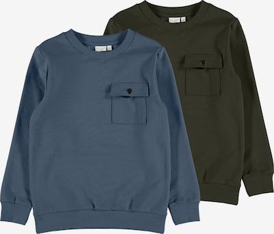 NAME IT Sweatshirt in Dusty blue / Khaki, Item view