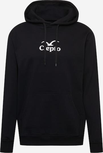 Cleptomanicx Sweatshirt in schwarz / weiß, Produktansicht