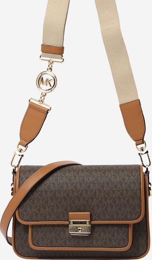 MICHAEL Michael Kors Чанта за през рамо тип преметка в брокат / светлокафяво / тъмнокафяво, Преглед на продукта