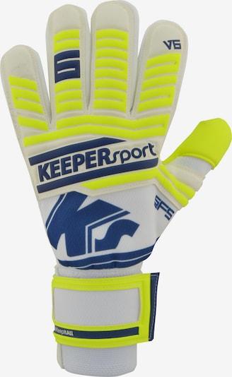 KEEPERsport Torwarthandschuh in gelb / weiß, Produktansicht