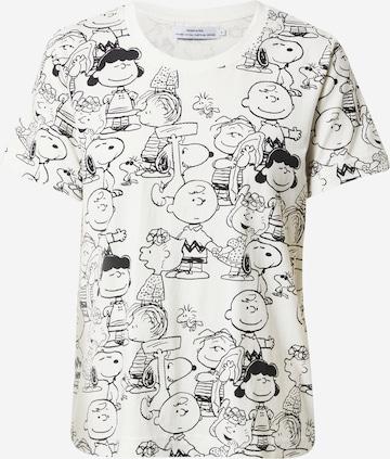 DEDICATED. T-Shirt 'Mysen Peanuts' in Weiß