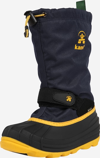 Kamik Boots 'Waterbug8g' in navy / yellow / green / black, Item view