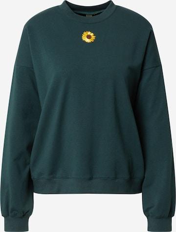 Résumé Sweatshirt 'Fleur' in Green