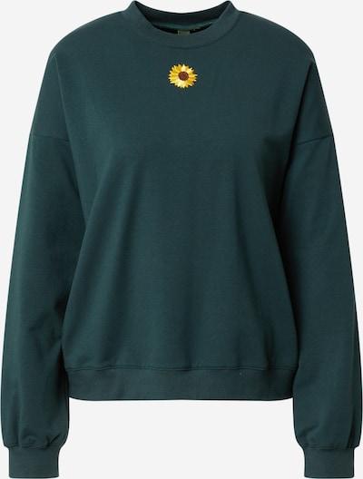 Résumé Sweatshirt 'Fleur' in Brown / Yellow / Emerald, Item view