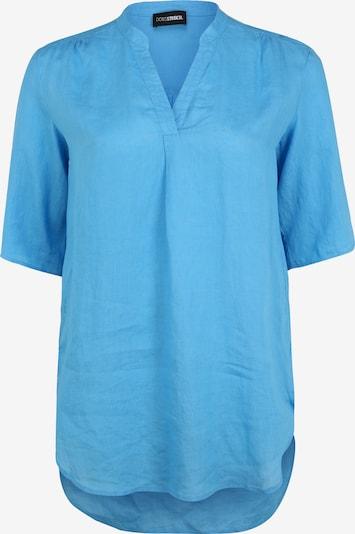 Doris Streich Longbluse mit V-Ausschnitt in blau, Produktansicht