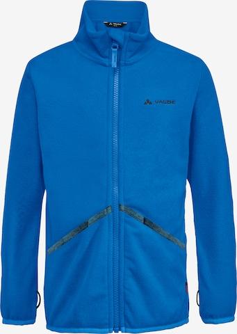 VAUDE Athletic Fleece Jacket 'Pulex' in Blue