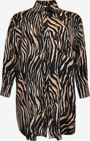 Yoek Bluse 'Tiger' in Braun
