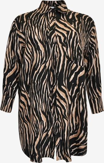 Yoek Blouse 'Tiger' in de kleur Bruin, Productweergave