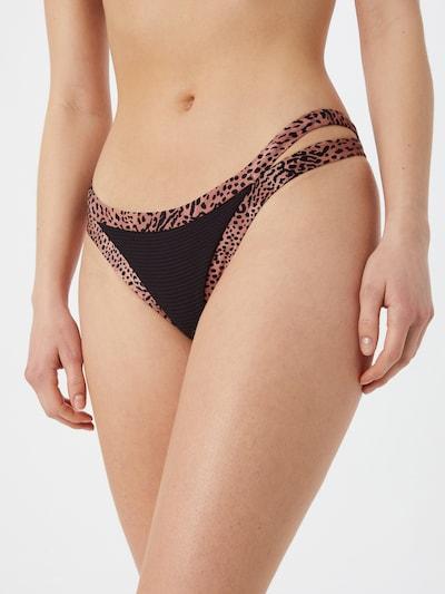 Seafolly Bikinibroek in de kleur Roestbruin / Zwart, Modelweergave