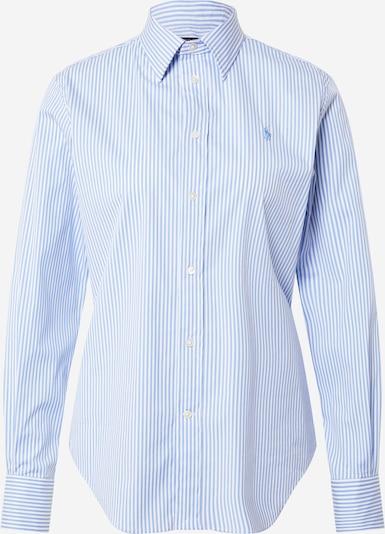 POLO RALPH LAUREN Bluse 'Georgia' i lyseblå / hvid, Produktvisning