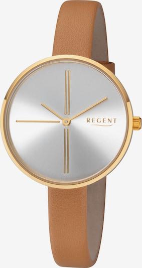REGENT Uhr in camel / gold / silber, Produktansicht
