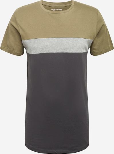 JACK & JONES T-Shirt en gris chiné / olive / noir, Vue avec produit