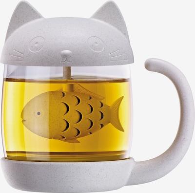 Winkee Teeglas 'Katze' in Transparent / mottled white, Item view