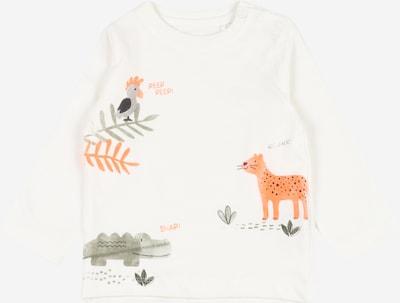 STACCATO Shirt in khaki / orange / weiß: Frontalansicht