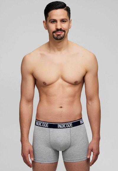 INDICODE JEANS Boxershorts in blau / hellgrau / dunkelrot, Modelansicht