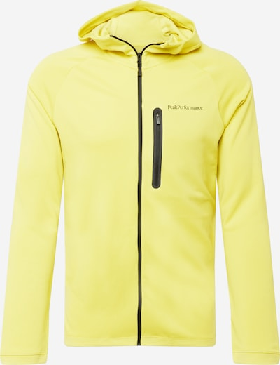 Bluză cu fermoar sport PEAK PERFORMANCE pe galben lămâie / negru, Vizualizare produs