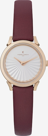 PIERRE CARDIN Analog Watch in Gold / Bordeaux / White, Item view