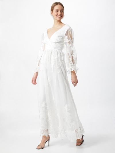 Rochie de seară 'BRIDIE' Y.A.S pe offwhite, Vizualizare model