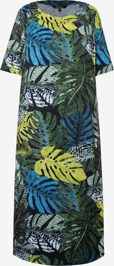 Ulla Popken Kleid in marine / gelb / grün, Produktansicht