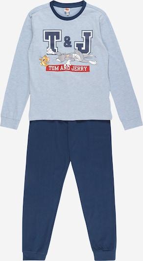 OVS Pyjama en bleu marine / bleu clair / rouge, Vue avec produit