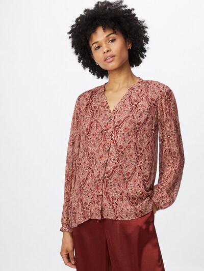 Maison 123 Bluse in beige / koralle / rosé / dunkelrot, Modelansicht