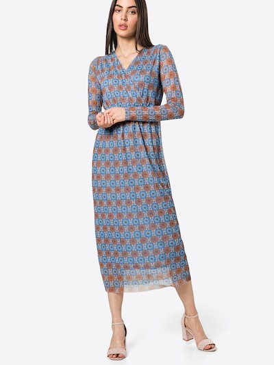 Rich & Royal Kleid in blau / hellblau / braun, Modelansicht