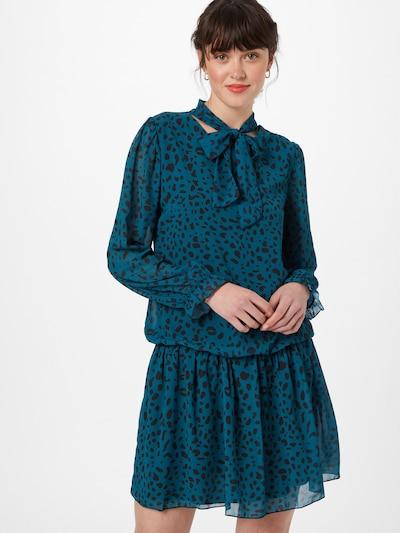 Mela London Kleid in nachtblau / pastellblau, Modelansicht