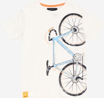 STACCATO Тениска в светлосиньо / оранжево / черно / мръсно бяло, Преглед на продукта