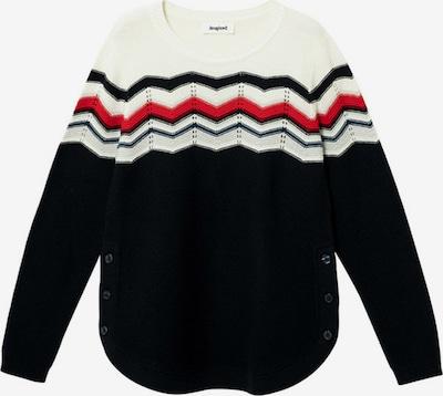 Desigual Пуловер 'HUDSON' в нощно синьо / червено / бяло, Преглед на продукта