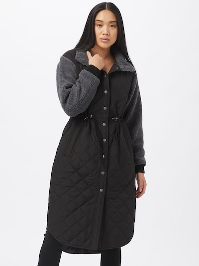 szürke / fekete Global Funk Átmeneti kabátok 'Marguire', Modell nézet