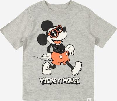 GAP T-Shirt en gris chiné / orange clair / noir / blanc, Vue avec produit