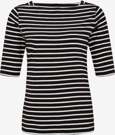 COMMA T-shirt en noir / blanc, Vue avec produit