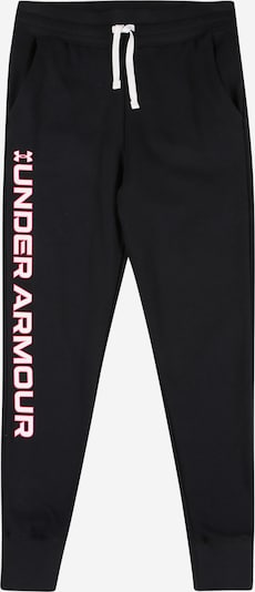 UNDER ARMOUR Športne hlače 'Rival' | svetlo rdeča / črna / bela barva, Prikaz izdelka