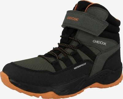 GEOX Snowboot in grau / grün / orange / schwarz, Produktansicht