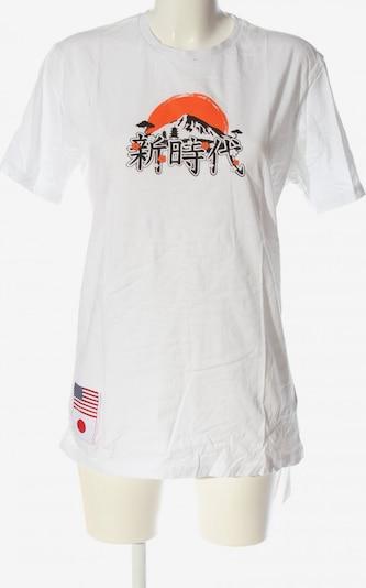 NEW ERA T-Shirt in M in hellorange / schwarz / weiß, Produktansicht