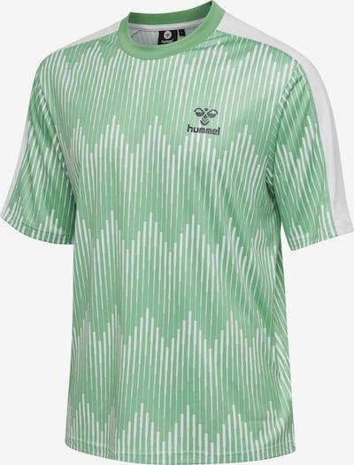 Hummel T-shirt S/S in grün / weiß: Frontalansicht