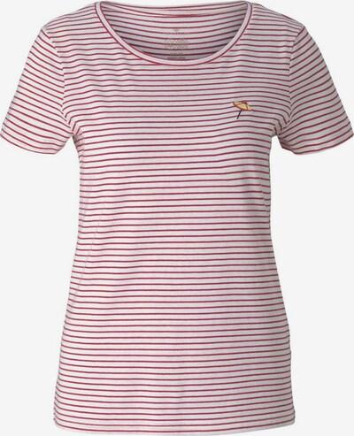 TOM TAILOR T-shirt en jaune / rouge / blanc, Vue avec produit
