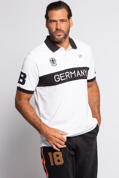 JP1880 Shirt in schwarz / weiß: Frontalansicht