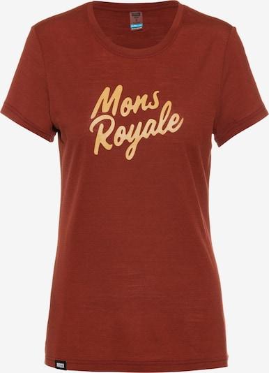 Mons Royale T-Shirt in hellgelb / bordeaux, Produktansicht