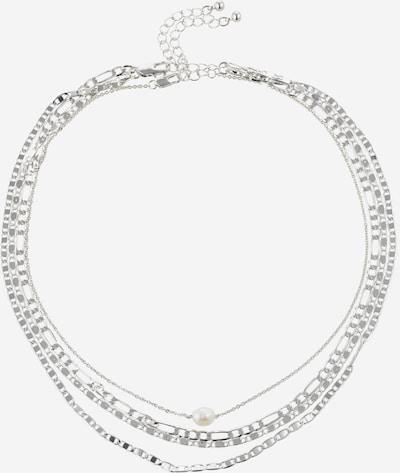 VILA Łańcuszek w kolorze srebrny / perłowo białym, Podgląd produktu